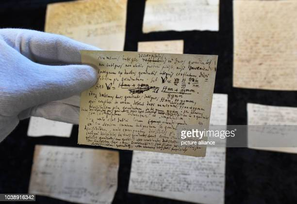 Historical sheets containing notes and mathematical formulas by polymath Gottfried Wilhelm Leibniz are on display in the 'Gottfried Wilhelm Leibniz...