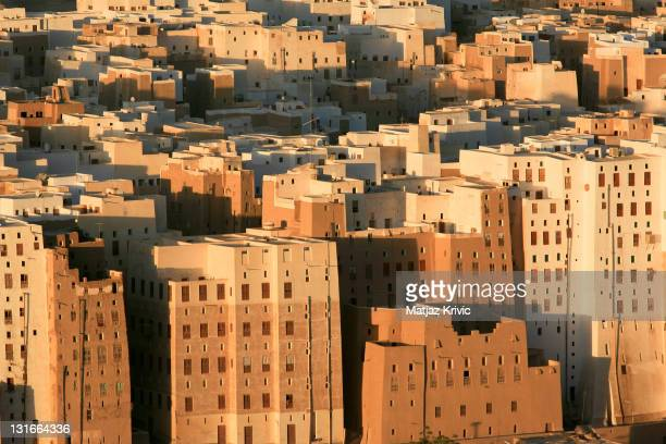 A historical town referred to as the Manhattan of the Desert lies in the Hadhramaut Valley on January 8 2006 in Shibam Yemen Decades of political...