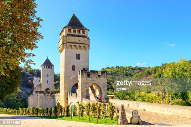 Historical Valentre Bridge of Cahors, France