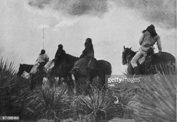 USA History Apache riders surprised by the storm
