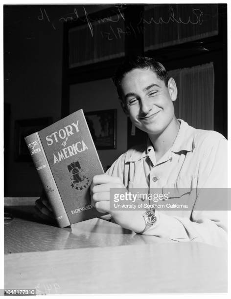 History Award winners , 29 November 1951. Richard Kempton -- 16 years ;Richard Shulman -- 17 years .;Caption slip reads: 'Photographer: McCarty....