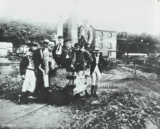 History class Bellenden Road School Camberwell London 1908 The children of Class 7 visiting a house from Dean Colliery 1896 Artist unknown