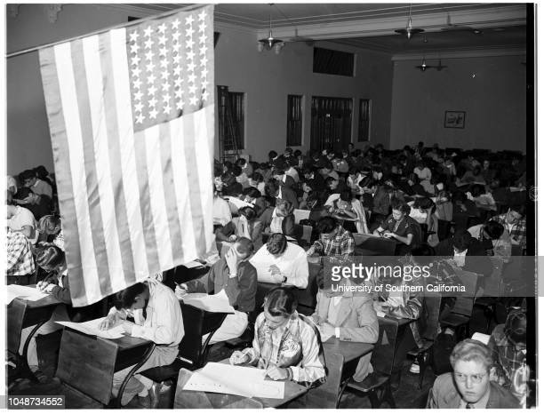 History Contest Belmont High School 7 November 1951 Lawrence Schnitzer 17 yearsAnthony Plaia 17 yearsMarilyn Kindy 16 yearsSandra Pizer 17...