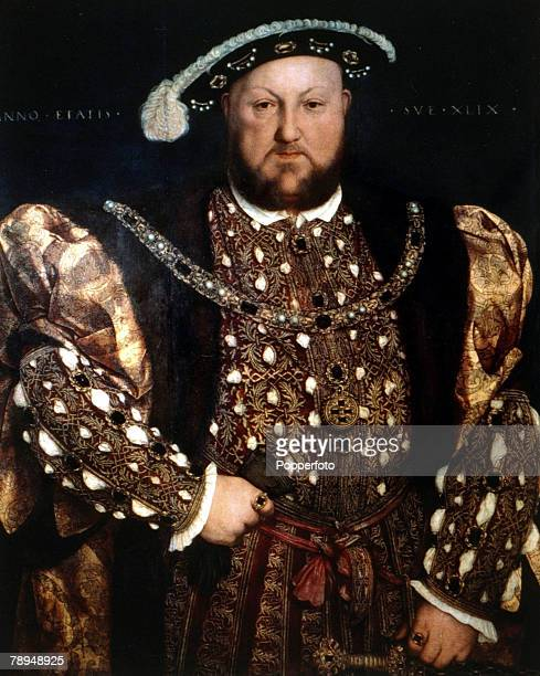 History Illustration English Royalty pic circa 1520 King Henry VIII who reigned 15091547 pictured in this portrait painted by Holbein Henry VIII was...