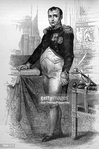circa 1800 This is an illustration Emperor Napoleon I lived who on his return to France in 1815 suffered a final defeat at the Battle of Waterloo and...