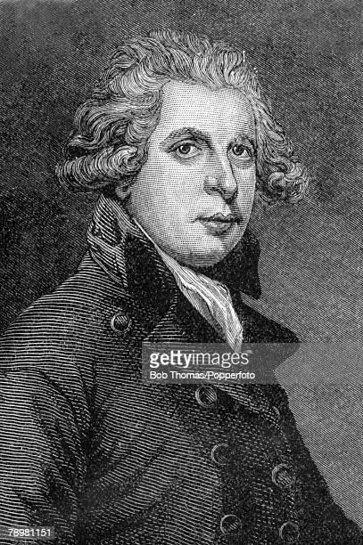 circa 1800 This is an illustration of Richard Brinsley Sheridan Irish dramatist and politician