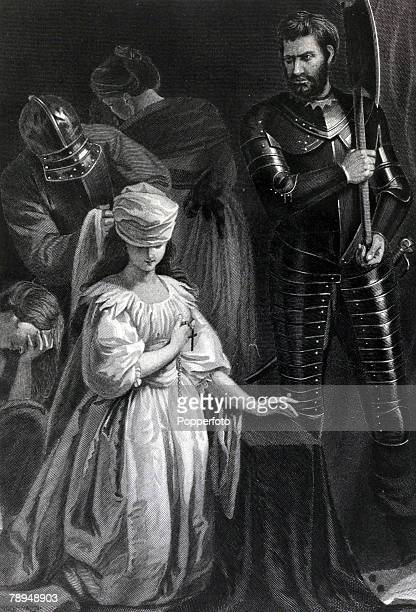 History Illustration Scottish Royalty pic 1587 Mary Stuart Mary Queen of Scots for a short time Queen of Scotland She was executed at Fotheringay...