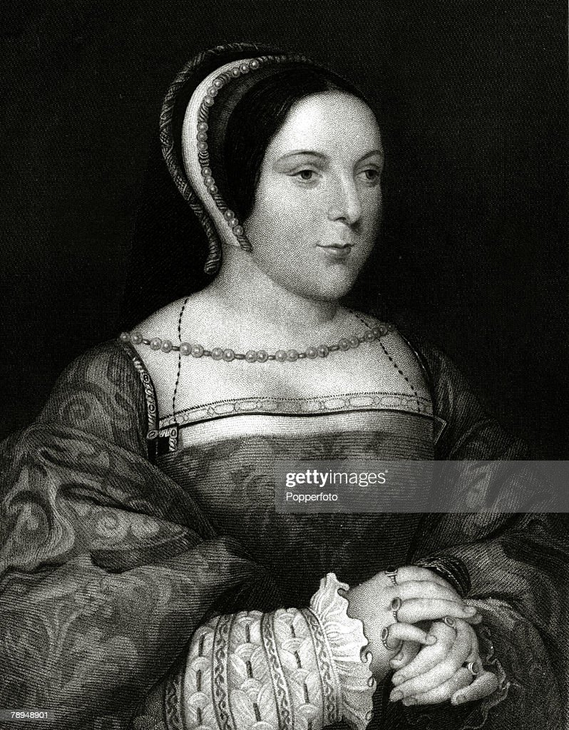 History Illustration. Scottish Royalty. pic: circa 1520. Margaret Tudor, Queen of Scotland, (1489-1541) the Queen of King James IV. : News Photo