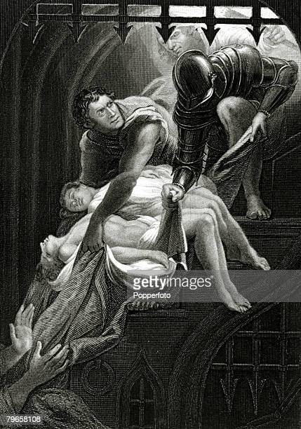 History Illustrations English Royalty pic circa 1480This illustration shows King Edward V the boy King murdered along with his brother Richard after...