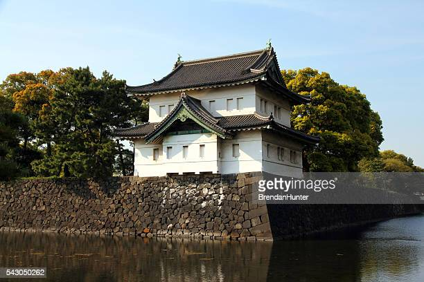 history in white - imperial palace tokyo stock photos and pictures
