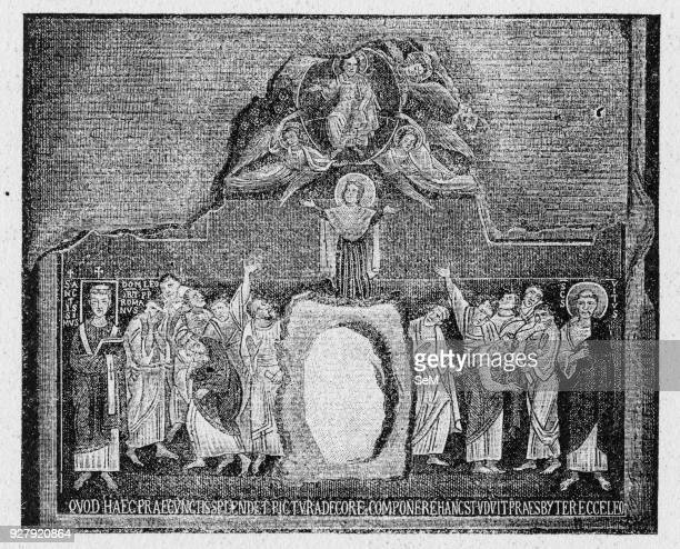 History of Ancient Rome Assumption of the Virgin in a pain from the 9th century