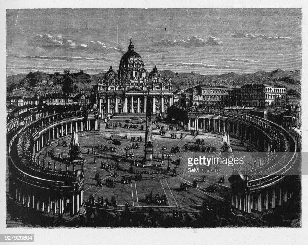 History of Ancient Rome St Peter's Square is a massive plaza located directly in front of St Peter's Basilica in the Vatican City the papal enclave...