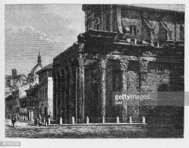 History of Ancient Rome Temple of Antoninus and Faustina is an ancient Roman temple in Rome adapted to the church of San Lorenzo in Miranda