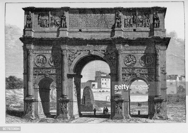History of Ancient Rome the Arch of Constantine is a triumphal arch in Rome situated between the Colosseum and the Palatine Hill