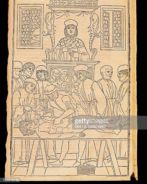History of Medicine 15th century Johannes de Ketham Fasciculus Medicinae 1491 Autopsy