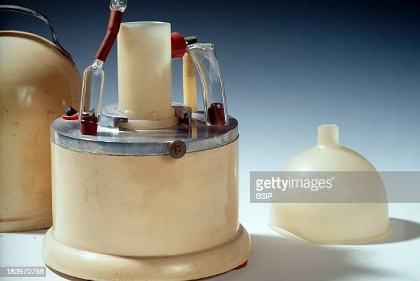 History Of Medicine, Milk Pump, Museum Of Notre-Dame a La Rose Hospital In Lessines, Belgium.