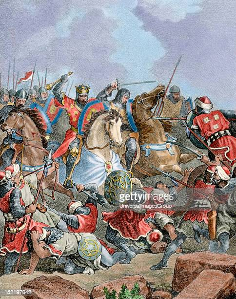 History of Spain Battle of river Salado The King Afonso IV of Portugal and King Alfonso XI of Castile against sultan Abu alHasan 'Ali of the Marinid...