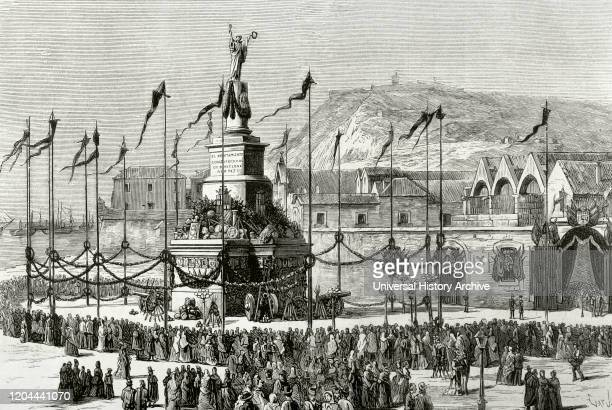 History of Spain. Reign of Alfonso XII . Barcelona, Catalonia. Celebrations on the occasion of the end of the Third Carlist War. Barcelona, as soon...
