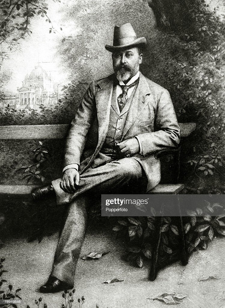 History Personalities. British Royalty. pic: 1890's. This illustration shows Edward, Prince of Wales, portrait. The Prince of Wales, (1841-1910) the son of Queen Victoria and Prince Albert later became King Edward VII and reigned 1901-1910. : News Photo