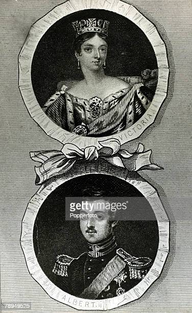 History Personalities British Royalty pic circa 1840's Queen Victoria pictured with her husband Prince Albert who she married in 1840 Queen Victoria...