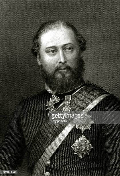History Personalities British Royalty pic circa 1890 HRH Edward Prince of Wales later to become King Edward VII who reigned 19011910