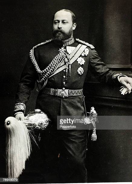 History Personalities, British Royalty, pic: circa 1890's, Edward Prince of Wales, , portrait, pictured in uniform, King Edward VII, who succeeded...