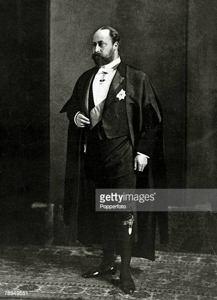 History Personalities, British Royalty, pic: circa 1890's, This illustration shows Edward, Prince of Wales, dressed as a Bencher of the Middle...