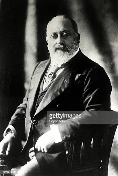 History Personalities, British Royalty, pic: circa 1900's, King Edward VII, portrait, King Edward VII, who succeeded his mother Queen Victoria...