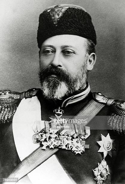 History Personalities British Royalty pic circa 1900's King Edward VII portrait pictured in a Russian military uniform King Edward VII who succeeded...