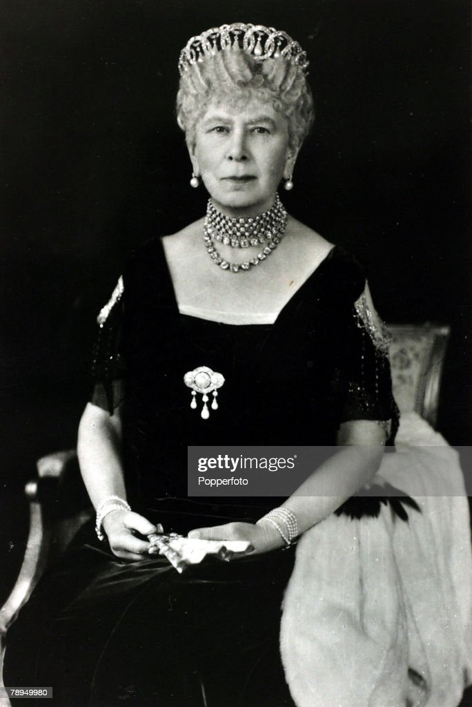 History Personalities. British Royalty. pic: circa 1930's HM.Queen Mary, portrait. Queen Mary (1867-1953) born Mary of Teck, became Queen Consort when her husband King George V ascended the throne in 1910. : News Photo