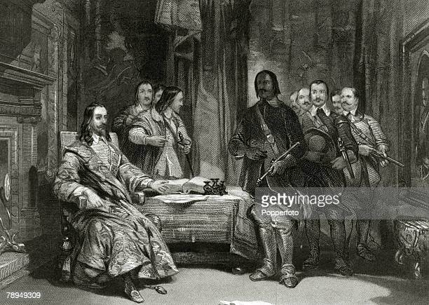 History Personalities English Royalty pic circa 1640 King Charles I pictured on his seizure at Holdenby Houe Northamptonshire King Charles I who...