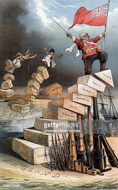 History repeats itself by Joseph Keppler 18381894 artist 1885 illustration shows Julius Caeser or a Roman centurion in the background tumbling off a...