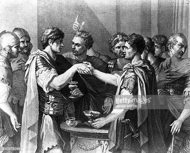 History roman antiquity The Catiline conspiracy 63 BC engraving after a painting of SRosa 1650