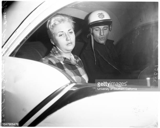 Hit and run 1 March 1958 Officer Laverne Ridenour Wini Gronvold Norma Grace Beck 30 years Caption slip reads 'Photographer Grey Date Reporter Coart...