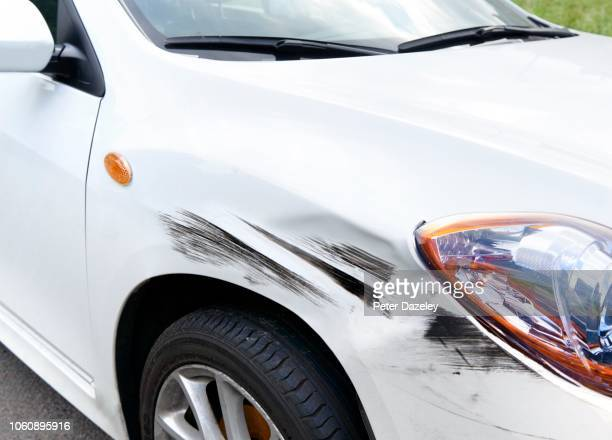 hit and run crashed car - damaged stock pictures, royalty-free photos & images
