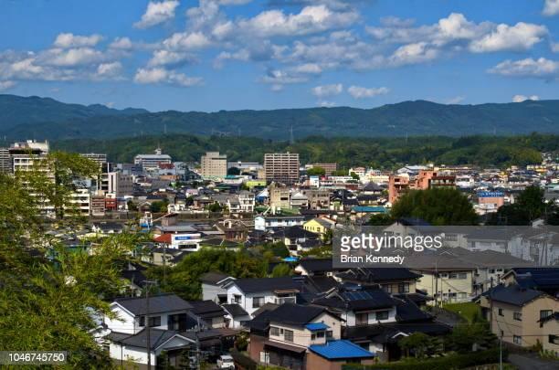 hita city cityscape - 大分県 ストックフォトと画像