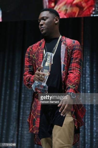 Hitboy speaks onstage at the 2013 BMI RB/HipHop Awards at Hammerstein Ballroom on August 22 2013 in New York City