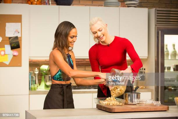 KLOSS Hitch Supermodel Karlie Kloss sits down with fellow model and good friend Joan Smalls as they play games make caramel corn and watch Hitch with...