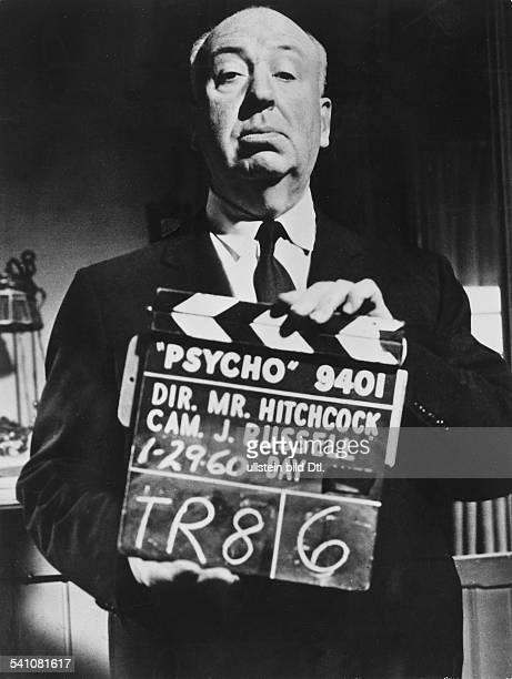 Hitchcock, Alfred *13.08.1899- +Filmregisseur, Filmproduzent, GB- Dreharbeiten zu 'Psycho'- 1960