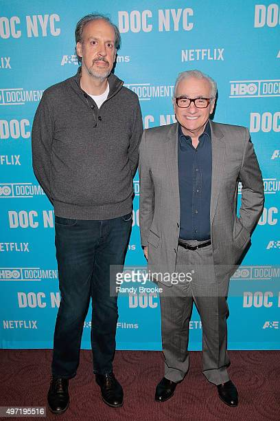 'Hitchcock/Truffaut' Director Kent Jones poses with director Martin Scorsese at the DOC NYC Screening Of 'Hitchcock/Truffaut' at Chelsea Bow Tie...