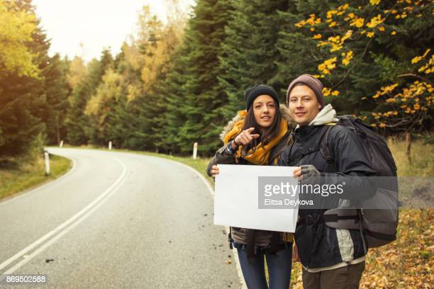 hitchhiker - hitchhiking stock pictures, royalty-free photos & images