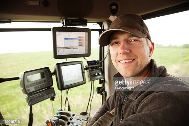 hi-tech farming - tractor stock pictures, royalty-free photos & images
