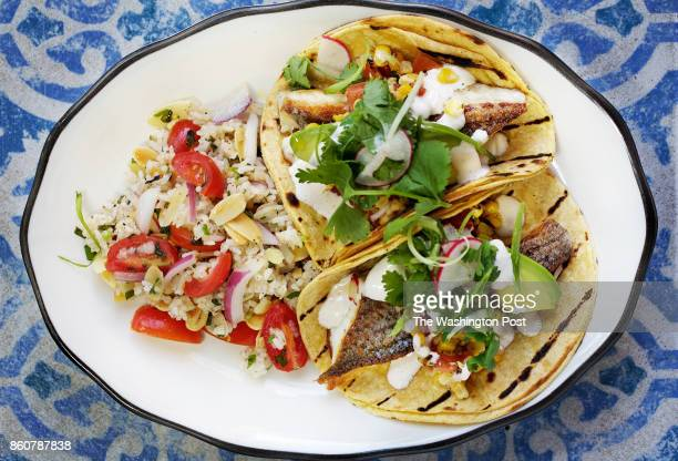 WASHINGTON DC Hither Creek Tacos Grilled local Rockfish in corn tortillas with tomato and sweet corn salad avocado cilantro and lime sour cream with...