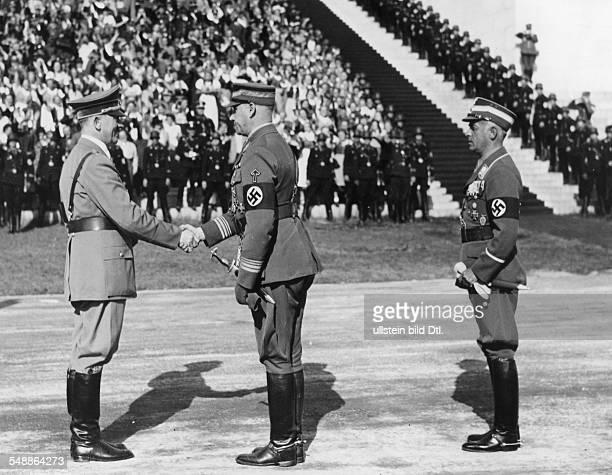 Hitler Adolf Politician NSDAP Germany *20041889 Deutschland Drittes Reich Reichsparteitag NSDAP Nuernberg 1938 'Tag der Nuremberg Rally 1938 Adolf...