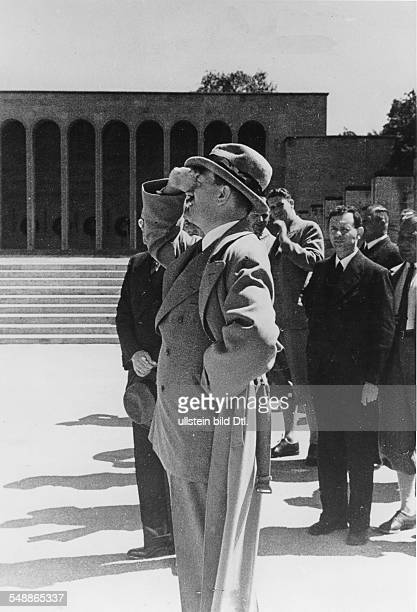 Hitler, Adolf - Politician, NSDAP, Germany *20.04.1889-+ - Nuremberg Rally 1935 Adolf Hitler - dressed in civil outfit - on a visit of the rally...