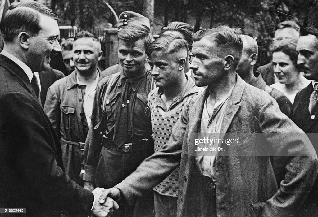 Image result for hitler shaking hands crowds
