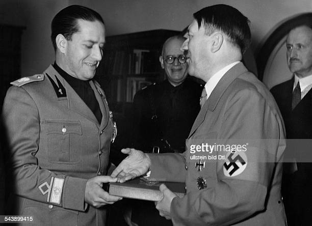Hitler Adolf Politician NSDAP Germany*20041889 with italian Foreign Minister Galeazzo Ciano undated Photographer PresseIllustrationen Heinrich...