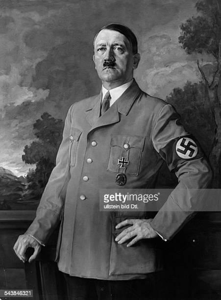 Hitler Adolf Politician NSDAP GermanyPortrait painting by Heinrich Knirr 1937 Photographer PresseIllustrationen Heinrich Hoffmann Published by...