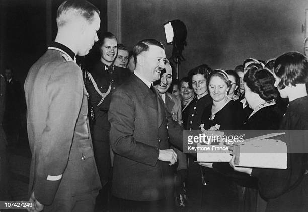 Hitler And Dr Ley With The Weapons Workers In Germany On November 15Th 1940
