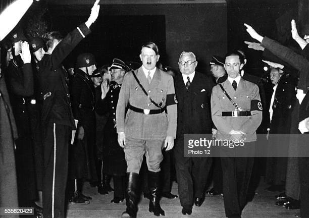 Hitler and Goebbels in a movie shot by the UFA Germany